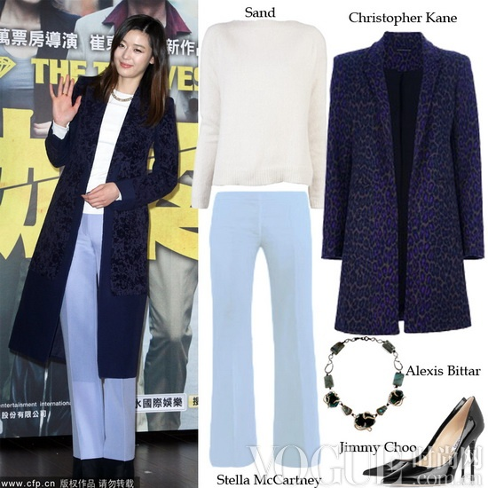 韩国美女简约式大衣搭配