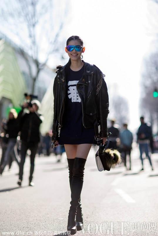 中国超模时装周街拍造型集锦