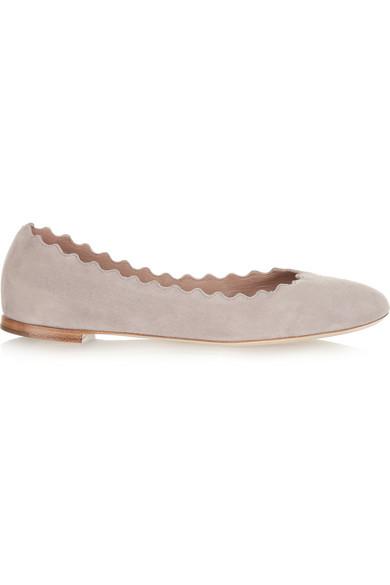 Lauren 绒面革芭蕾平底鞋