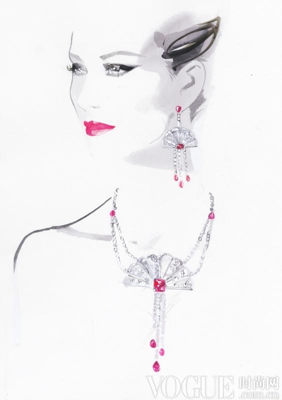 笔尖上的奢华 时尚插画家造就的璀璨水墨