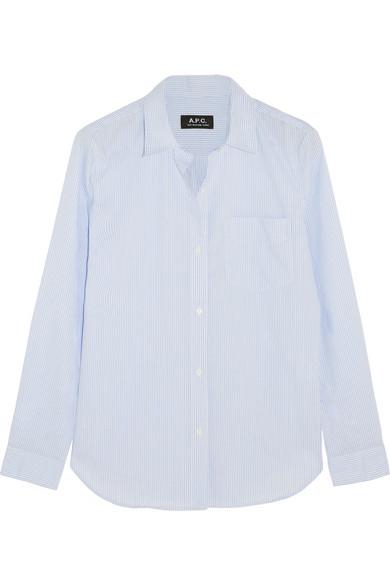 Audrey 条纹纯棉衬衫