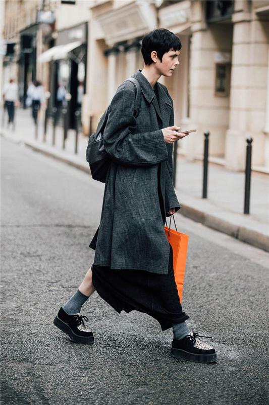 不知道穿什么,就穿黑、灰色