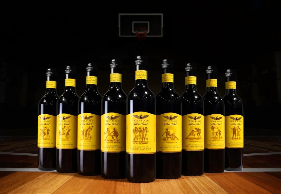 纷赋酒庄推出黄牌系列篮球限量版葡萄酒_生活