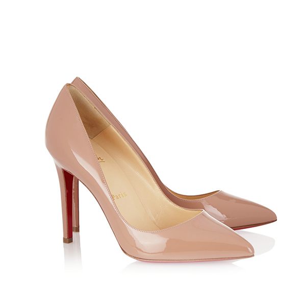 671f69bf3d4c0a Christian Louboutin Pigalle Nude Color Patent High Heels