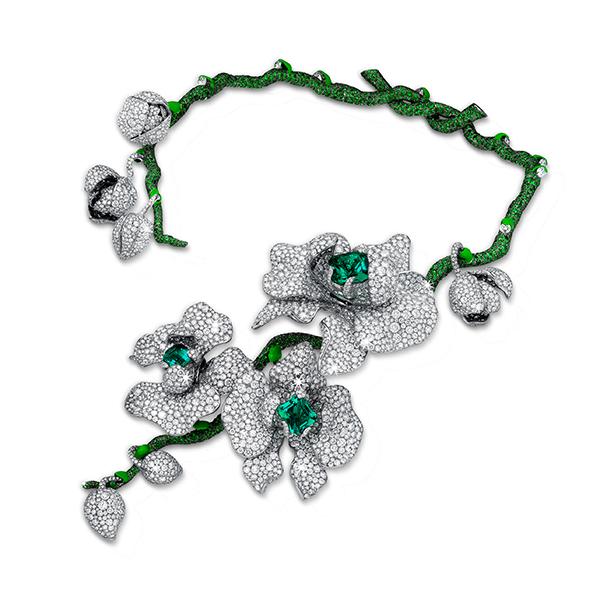 DIANA ZHANG首位跻身巴黎古董双年展的华人女珠宝设计师 全新得意之作「兰花女王」项链问世 将生命注入作品