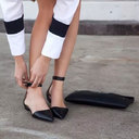 选对平底鞋 160cm变170cm