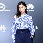 中国超模李丹妮现身VOGUE十周年盛典