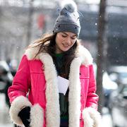 毛线帽是冬日着装的点睛之笔