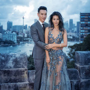 著名台湾歌手蔡诗芸穿上Sergio Rossi特别订制婚鞋出嫁