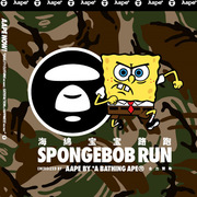AAPE BY A BATHING APE® 全力赞助SPONGEBOB RUN