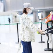 刘诗诗穿TOD'S 2018春夏系列白色流苏乐福鞋