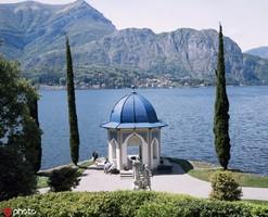 """意大利科莫湖 科莫湖是世界著名風景休閑度假勝地,位于終年積雪的山脈陰面,水域呈倒""""Y""""形,全長120公..."""