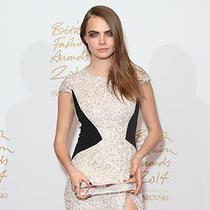 明星身着Burberry出席2014年英国时尚大奖