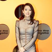 国际影星章子怡身穿Miu Miu连衣裙亮相东京