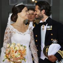 """瑞典王子大婚 再现""""灰姑娘""""童话"""