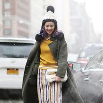 冬季保暖又好看 只需要一顶毛线帽