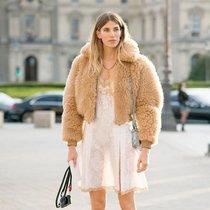 穿上就想抱抱的羊羔毛外套 今年冬天它最红 -时尚街拍