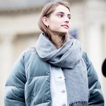 """戴上一条羊绒围巾 就好像拥有一个""""贴心爱人""""-风格示范"""
