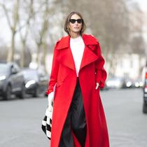 顯瘦顯高又保暖 當然是大衣配闊腿褲 -時尚街拍