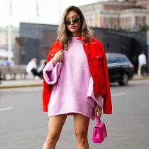 粉+红色系 春天最美配色-时尚街拍