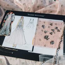 Maisie Williams 的《冰与火之歌:权力游戏 Game of Thrones》首映礼服制作过程-风格创造