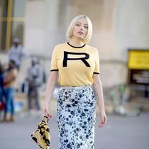 夏日街頭CP T恤+仙女半裙 -時尚街拍