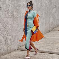一件半高领连衣裙 优雅气质显高又显瘦-时尚街拍