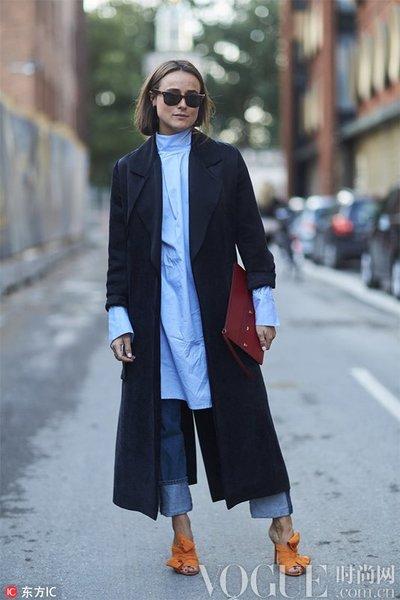 阔腿裤+大衣 这个冬天你的扮靓保暖利器