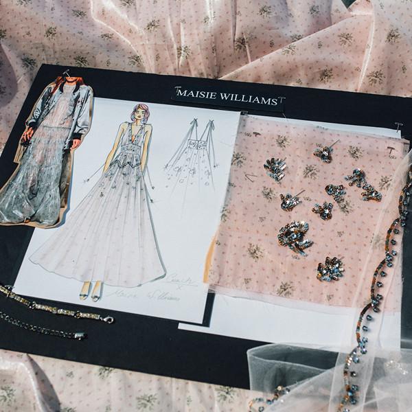 Maisie Williams 的《冰与火之歌:权力游戏 Game of Thrones》首映礼服制作过程