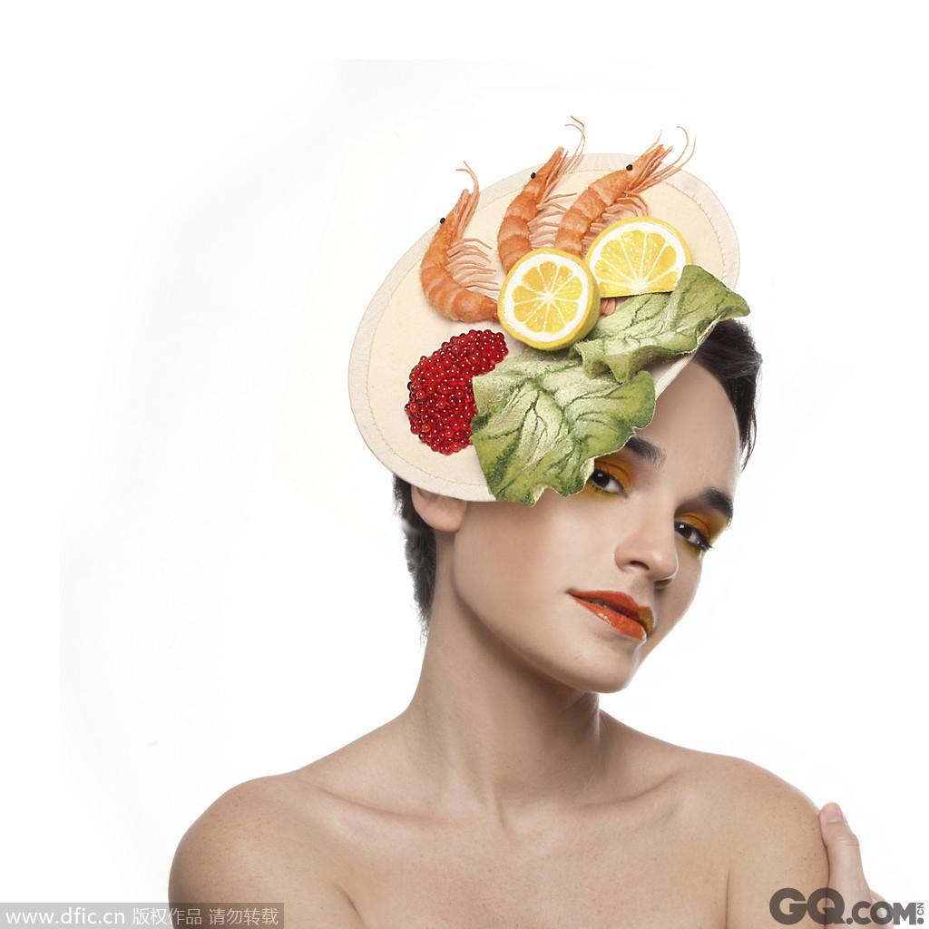 秋皮龙虾帽。