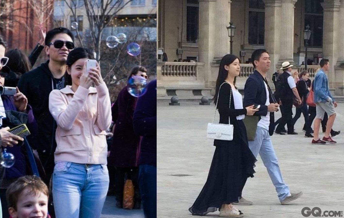"""2015年1月月25日,刘强东和奶茶妹妹确实被拍到在泰国亲密同游,似乎这也印证了,刘强东口中的""""太太"""",正是章泽天。"""