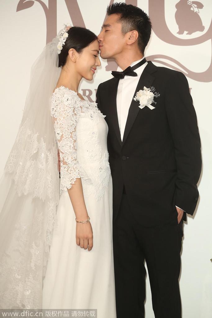 2014年11月28日,台北,高圆圆、赵又廷大婚现场。