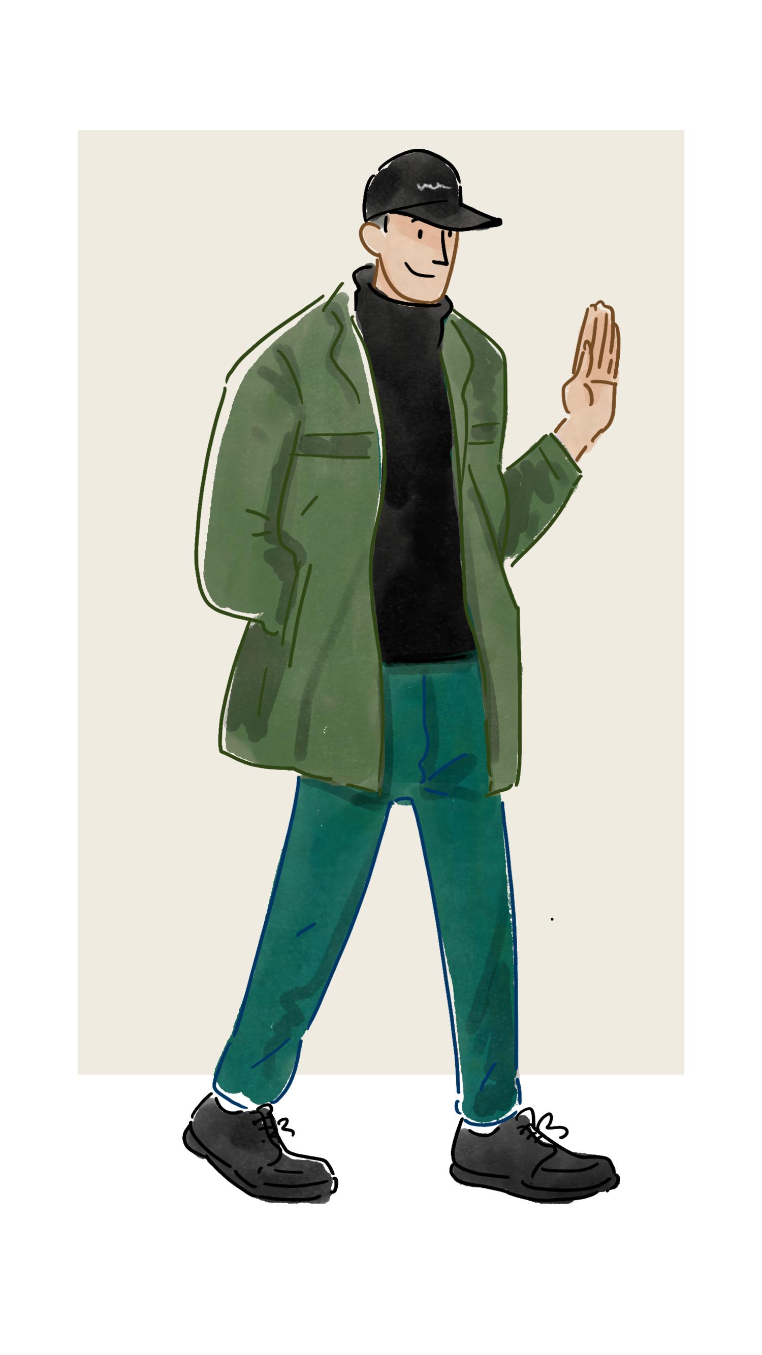 每日穿搭|单层的防风夹克冬季也可以穿