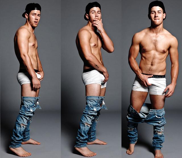 Nick Jonas今年推出的单曲Jealous进了BB榜TOP 10。这样的好成绩是他拼了命宣传得来的:大尺度写真(如图《flaunt》杂志大片),大尺度MV,大尺度电影,还有去了大尺度gay吧表演。真是敬业!