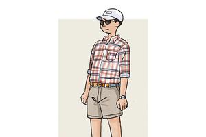 每日穿搭 用花格子衫撇开码农印象