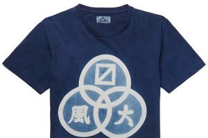 风大?穿日式传统蓝染工艺T恤