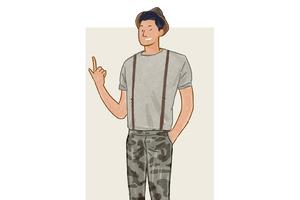 每日穿搭 如何让一条汉子气四溢的迷彩裤变得潇洒倜傥